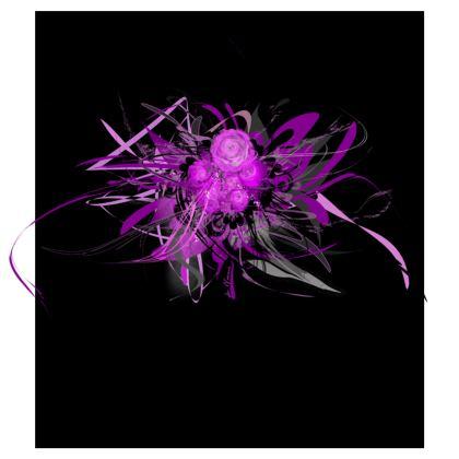 Skater Dress - Skater klänning - Lilac on Black