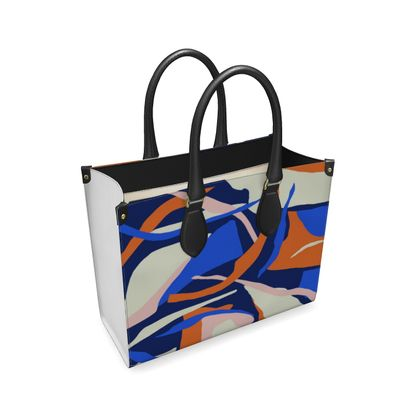 Leather Shopper Bag - Fine Abstract