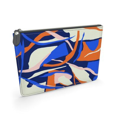 Leather Pouch - Abstract