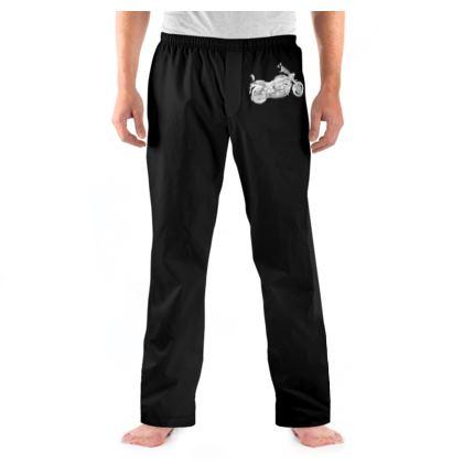 Men's Pyjama Bottoms - Cruiser Sketch