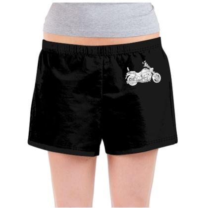 Ladies Pyjama Shorts - Cruiser Sketch