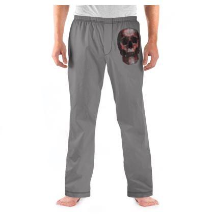 Mens Pyjama Bottoms - Cheerful Skull