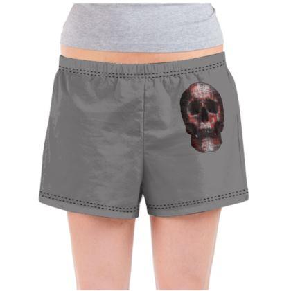 Ladies Pyjama Shorts - Cheerful Skull