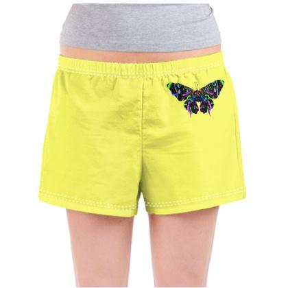 Ladies Pyjama Shorts - Butterfly