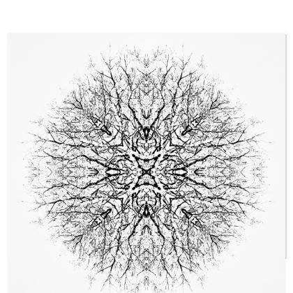 Black and White Trees Kimono