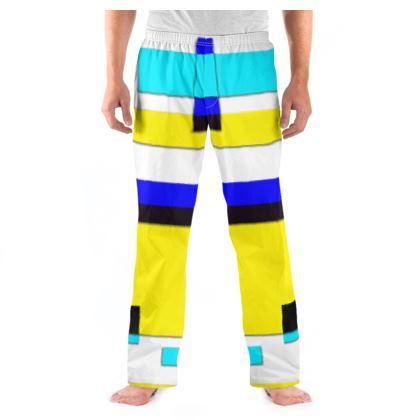 Men's Pyjama Bottoms - Bright Squares