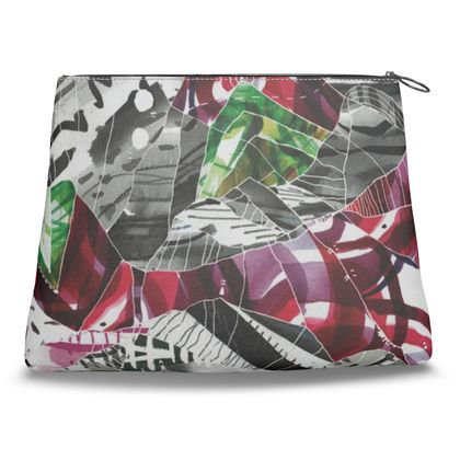 Dreaming of Mountains Abstract Print Clutch Bag