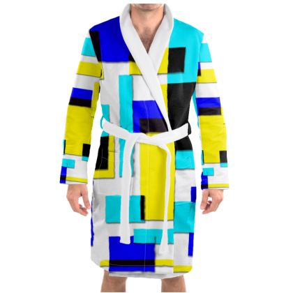 Dressing Gown - Bright Squares