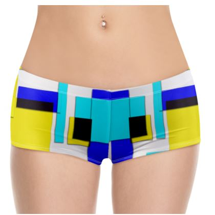 Hot Pants - Bright Squares