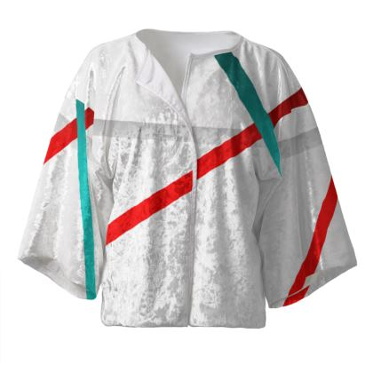 Kimono Jacket - Regal Stripes (White)