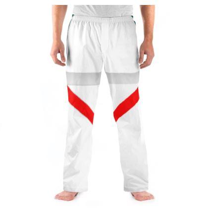 Men's Pyjama Bottoms - Regal Stripes (White)