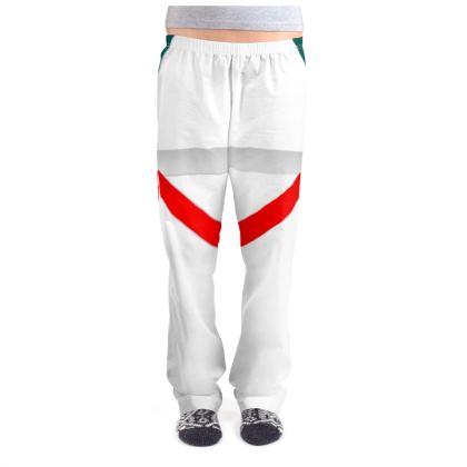 Ladies Pyjama Bottoms - Regal Stripes (White)