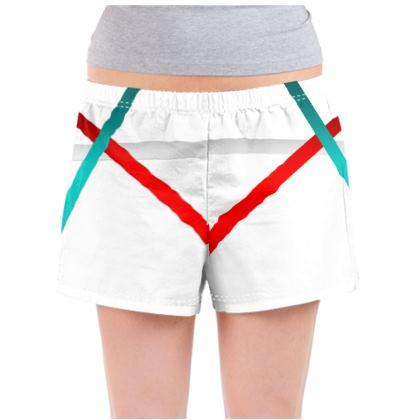 Ladies Pyjama Shorts - Regal Stripes (White)