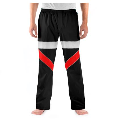 Men's Pyjama Bottoms - Regal Stripes (Black)