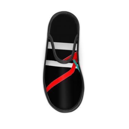 Slippers - Regal Stripes (Black)