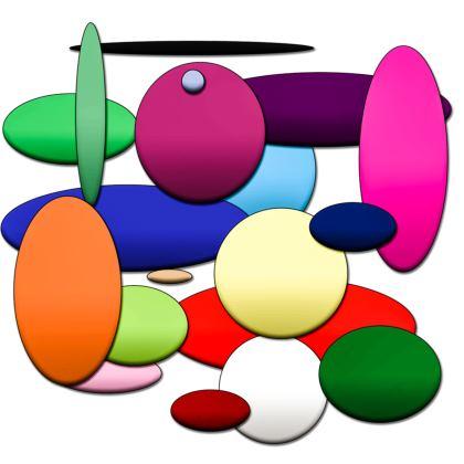 Kimono Jacket - Random Circles