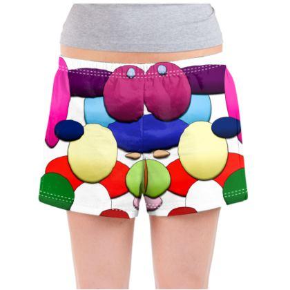 Ladies Pyjama Shorts - Random Circles