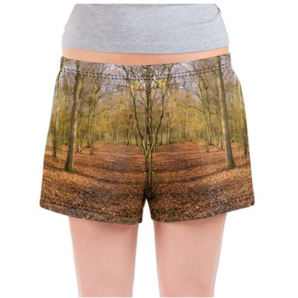Ladies Pyjama Shorts - Open Clearing in Clapham Woods
