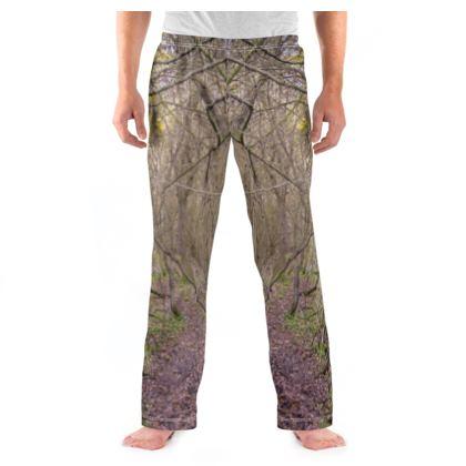 Men's Pyjama Bottoms - Trail in the Woods