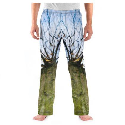 Men's Pyjama Bottoms - Vertical Tree