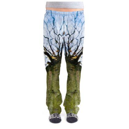 Ladies Pyjama Bottoms - Vertical Tree