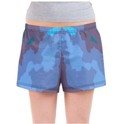 Ladies Pyjama Shorts - Abstract Colours