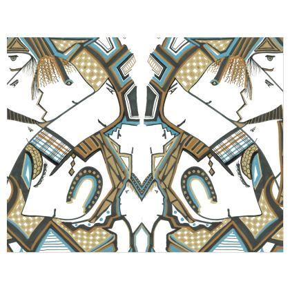 Large patent vinyl handle strap bag she love her Jewels blue
