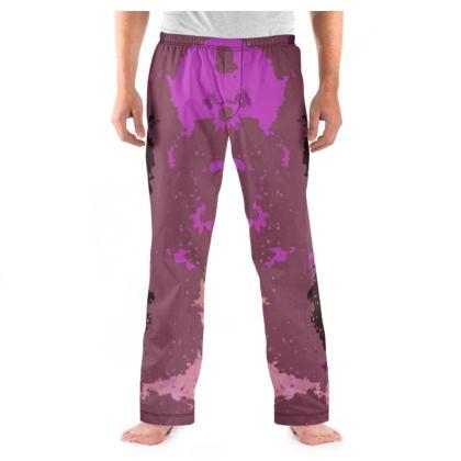 Men's Pyjama Bottoms - Pink Ion Storm Abstract