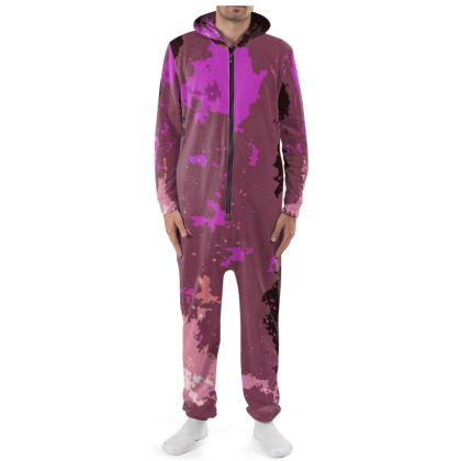 Onesie - Pink Ion Storm Abstract
