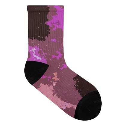 Socks - Pink Ion Storm Abstract