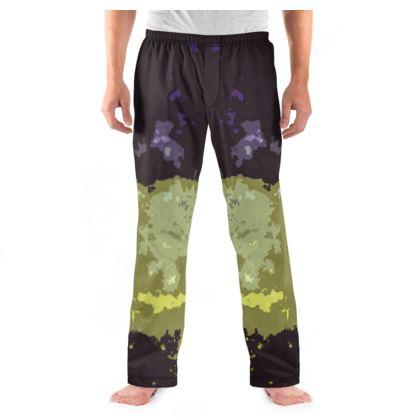Men's Pyjama Bottoms - Space Explosion Abstract