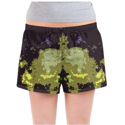 Ladies Pyjama Shorts - Space Explosion Abstract