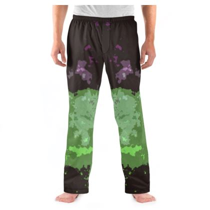 Men's Pyjama Bottoms - Elerium Chemical Explosion Abstract
