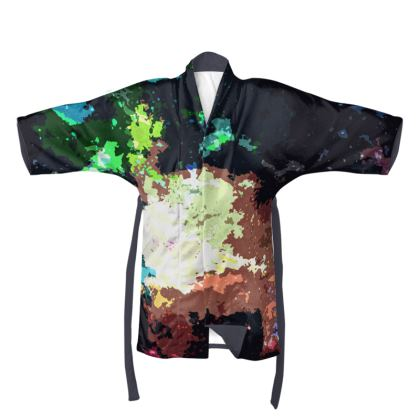 Kimono - Green Flame Creature Abstract
