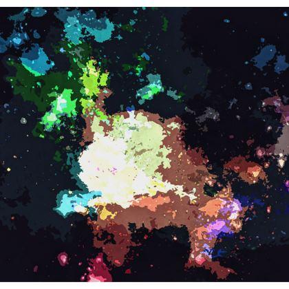Kimono Jacket - Green Flame Creature Abstract