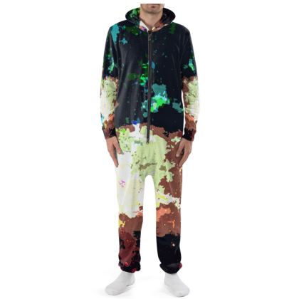 Onesie - Green Flame Creature Abstract