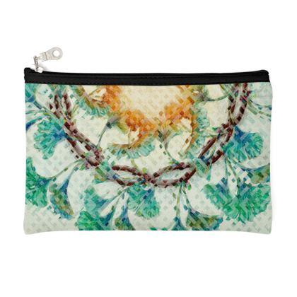 Ginkgo weave design pencil case