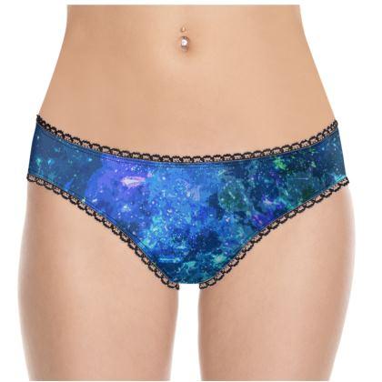 Knickers - Blue Nebula Galaxy Abstract
