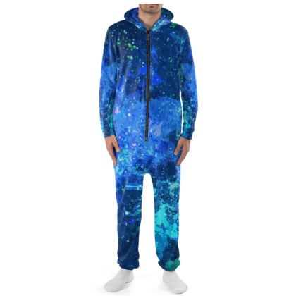 Onesie - Blue Nebula Galaxy Abstract