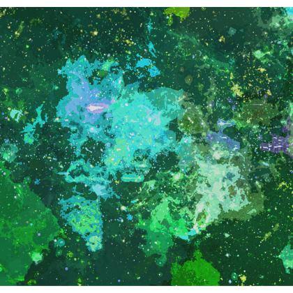 Kimono Jacket - Jade Nebula Galaxy Abstract