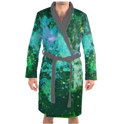Dressing Gown - Jade Nebula Galaxy Abstract