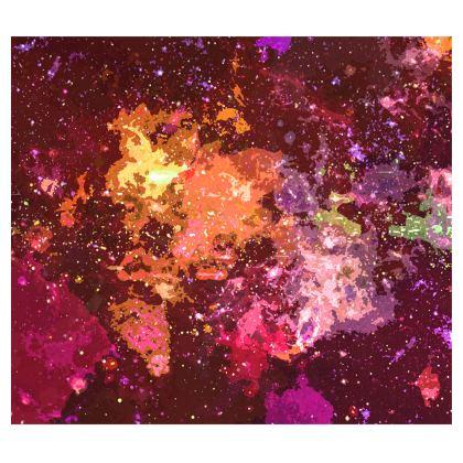 Kimono - Orange Nebula Galaxy Abstract