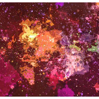Dressing Gown - Orange Nebula Galaxy Abstract