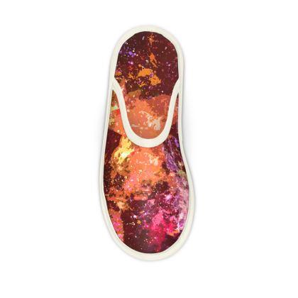 Slippers - Orange Nebula Galaxy Abstract