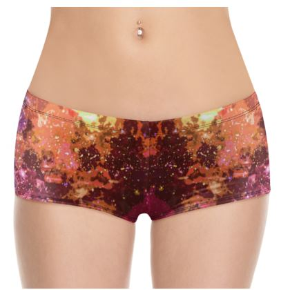 Hot Pants - Orange Nebula Galaxy Abstract