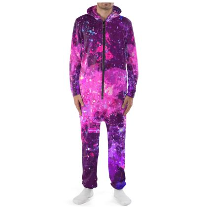 Onesie - Pink Nebula Galaxy Abstract