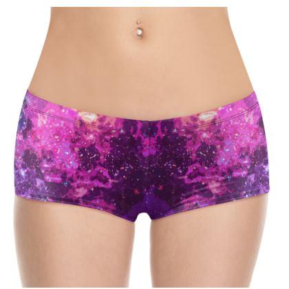 Hot Pants - Pink Nebula Galaxy Abstract