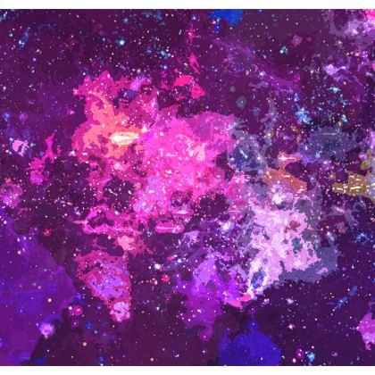 Socks - Pink Nebula Galaxy Abstract