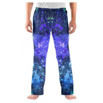 Men's Pyjama Bottoms - Purple Nebula Galaxy Abstract
