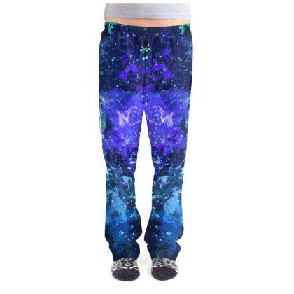 Ladies Pyjama Bottoms - Purple Nebula Galaxy Abstract